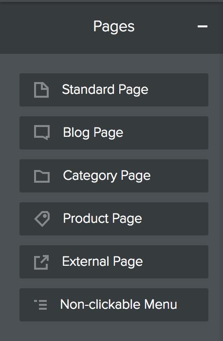 Weebly Add Page Menu