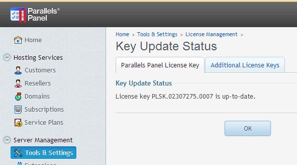 How to Manually Renew the Plesk Panel License Key « HostGator com