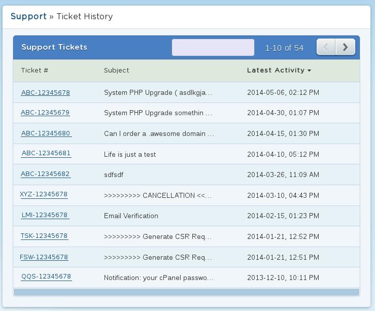 Billing Portal - Ticket History « HostGator.com Support Portal