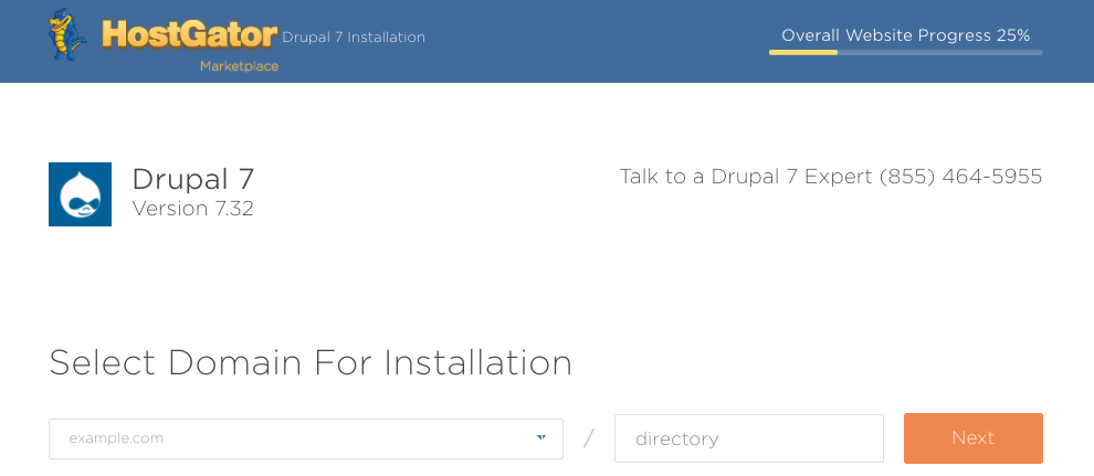 Domain Option for Drupal Install