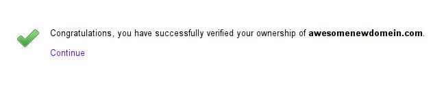 Google Admin Console Verify Domain
