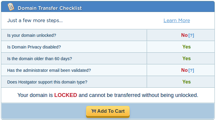 How Can I Transfer My Domain to HostGator? « HostGator.com Support ...