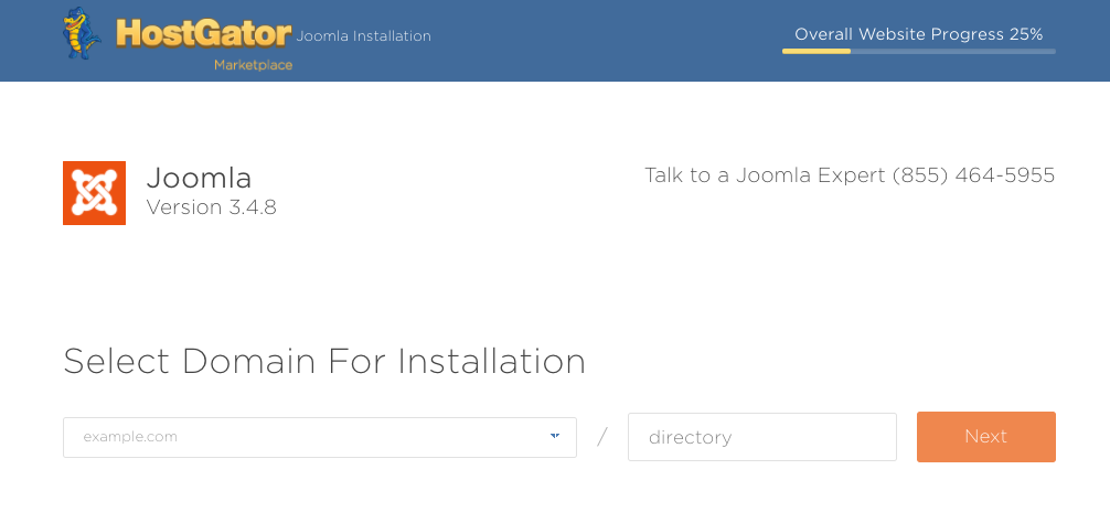 Domain Option for Joomla Install