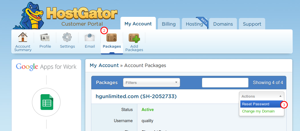 hostgator support- Bluehost Vs HostGator Vs DreamHost