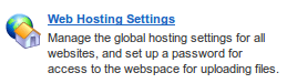 Web Host Settings