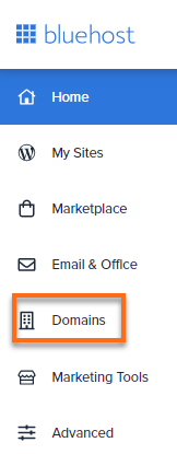 Bluerock - Domains tab