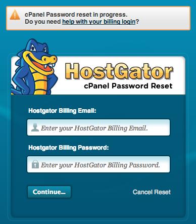 how to change hostgator cpanel password