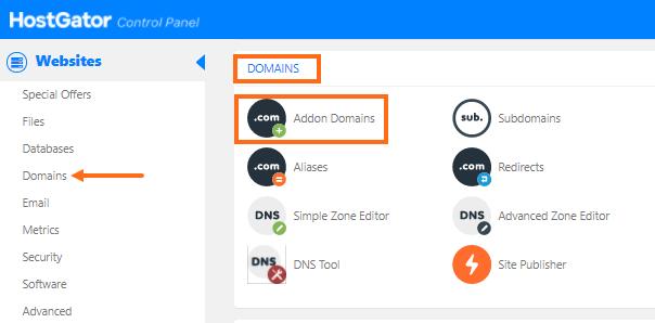 cPanel - Addon Domains