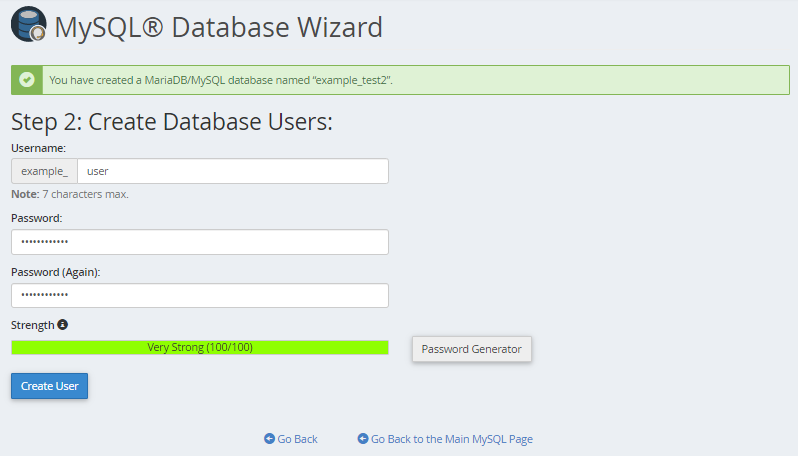 MySQL Step 2