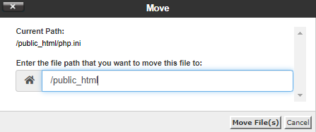 cPanel - File Manager - Move File