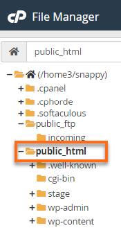 HostGator cPanel public_html folder
