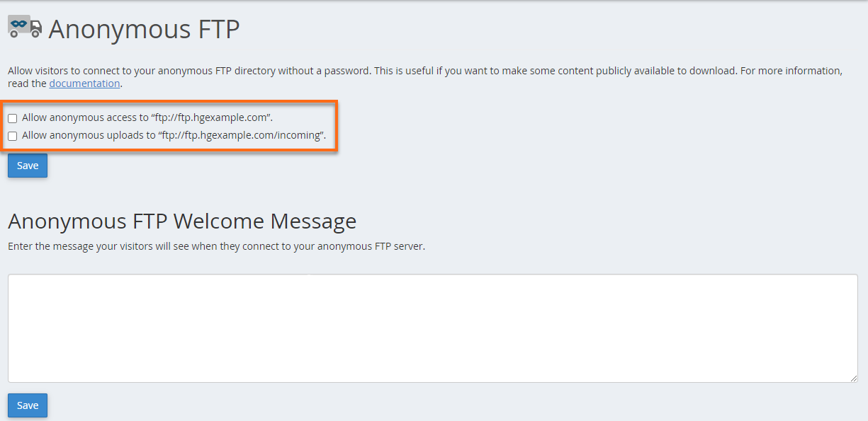 HostGator Anonymous FTP