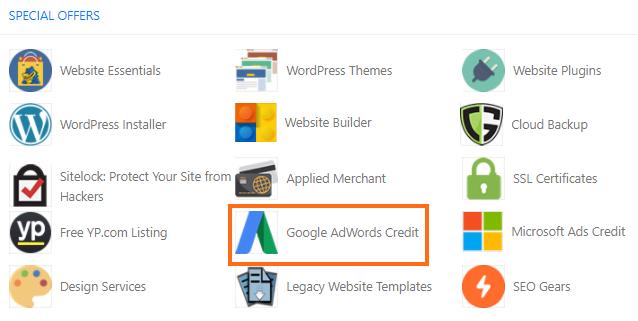 cPanel - Google Adwords Credit
