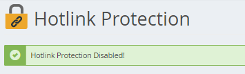 Hotlink Protection Disabled