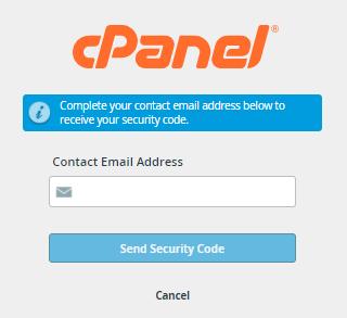 cPanel - Enter Email address