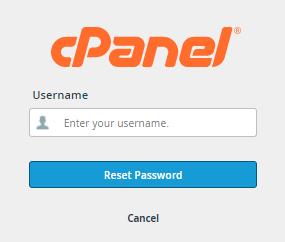 cPanel - Enter Username