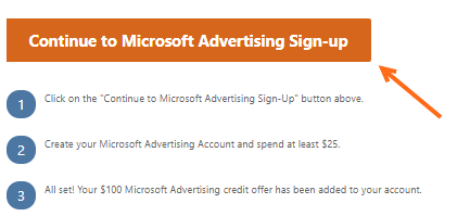 cPanel - Microsoft Advertising Sign-up