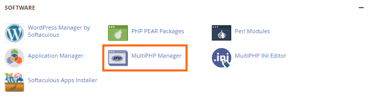 cPanel MultiPHP Manager Plugin