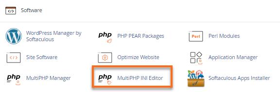 cPanel MultiPHP INI Editor Plugin