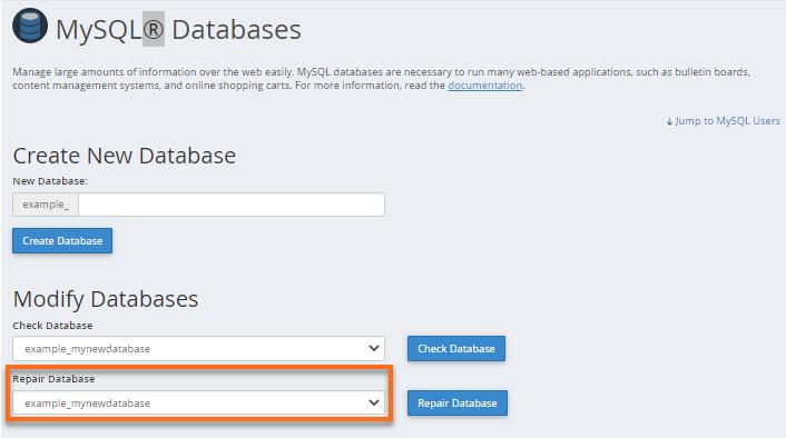 Repair Databases