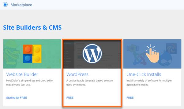 cPanel QuickInstall WordPress Tile