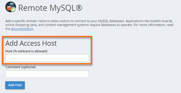 Remote MySQL - Add IP Address
