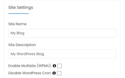 HostGator cPanel Softaculous WordPress Site Settings