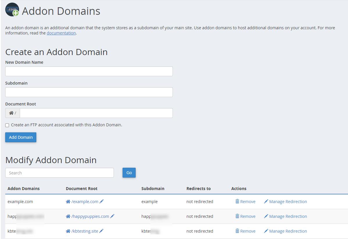 HostGator Addon Domain Home