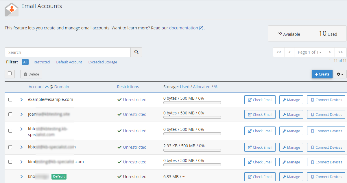 HostGator Email Accounts Home