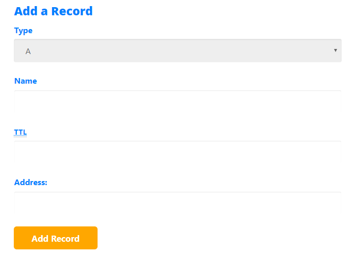 cPanel - Add A record