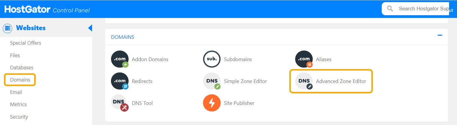 HostGator cPanel Advanced Editor Button