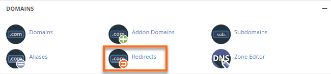 cPanel's Redirects