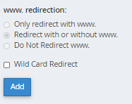 cPanel - Redirects - Wildcard Redirect