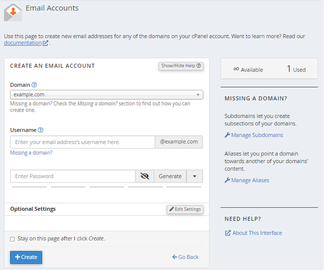 how do i create email accounts in cpanel? hostgator support create viber account create account #8