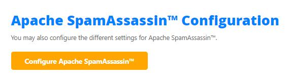 HostGator cPanel Configure Apache SpamAssassin