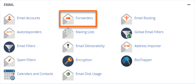 Email Forwaders - Add New Forwarder