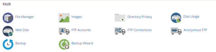 cPanel - Files section