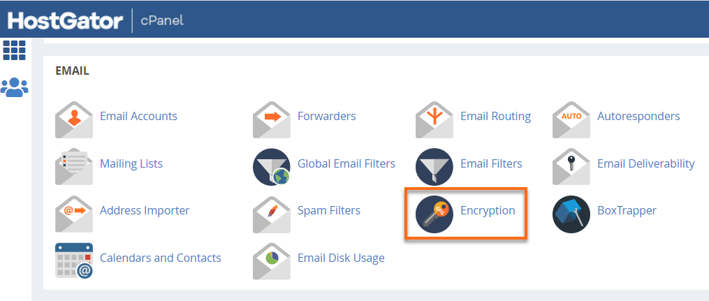 cPanel Email Encryption
