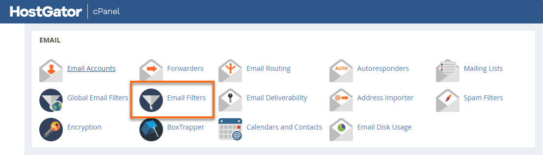 Email Filters icon