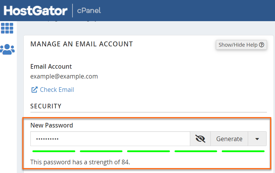 Email Security Settings