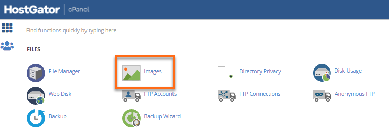 cPanel Images icon