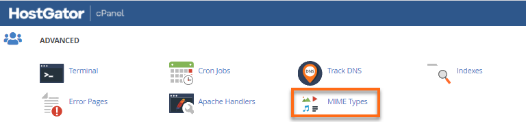 cPanel MIME icon