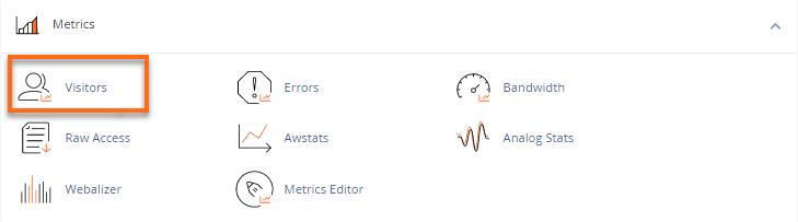 cPanel Metrics section