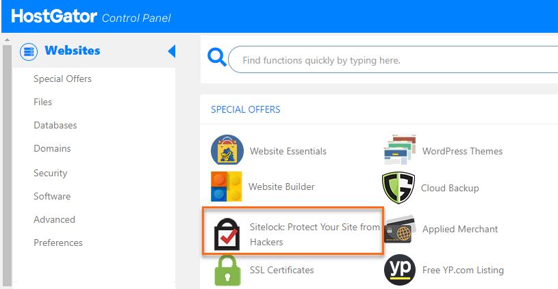 cPanel SiteLock Icon