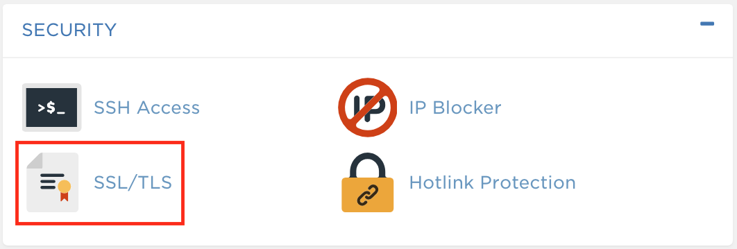 cPanel SSL/TLS Icon