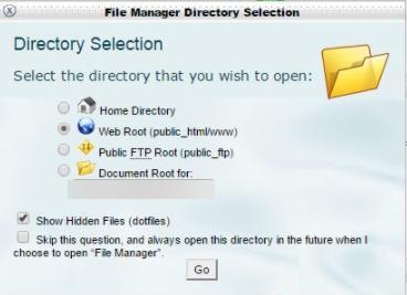 Show hidden files