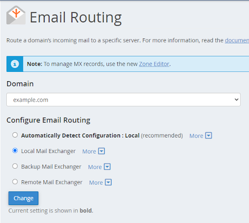 cPanel - Email Routing