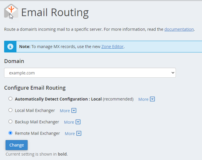 cPanel- Set Up Email Routing