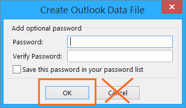 Microsoft Outlook Import and Export Wizard Name .pst File