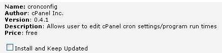 Allows user to edit cPanel cron settings/program run times